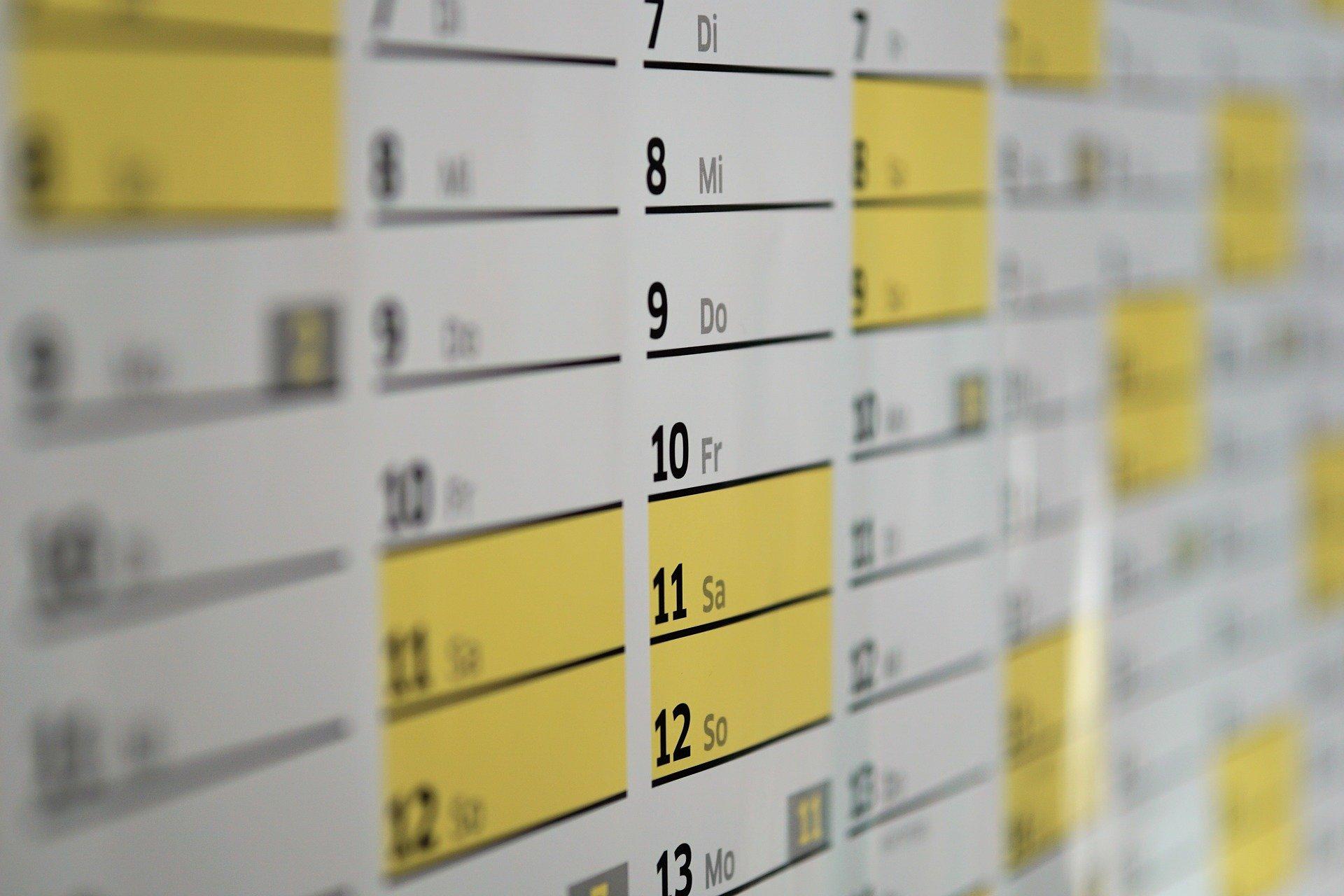 Calendario Fiscal para el mes de enero de 2017